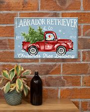LABRADOR DOG RED TRUCK CHRISTMAS 17x11 Poster poster-landscape-17x11-lifestyle-23