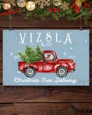 VIZSLA DOG RED TRUCK CHRISTMAS 17x11 Poster aos-poster-landscape-17x11-lifestyle-27