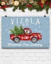 VIZSLA DOG RED TRUCK CHRISTMAS 17x11 Poster aos-poster-landscape-17x11-lifestyle-28