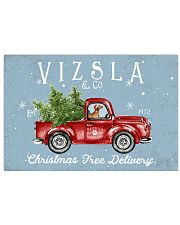 VIZSLA DOG RED TRUCK CHRISTMAS 17x11 Poster front