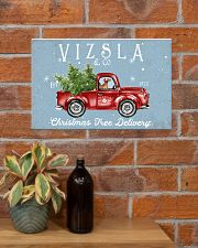 VIZSLA DOG RED TRUCK CHRISTMAS 17x11 Poster poster-landscape-17x11-lifestyle-23