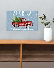 VIZSLA DOG RED TRUCK CHRISTMAS 17x11 Poster poster-landscape-17x11-lifestyle-24