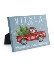 VIZSLA DOG RED TRUCK CHRISTMAS Easel-Back Gallery Wrapped Canvas tile