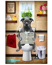 PITBULL TERRIER SITTING ON A TOILET 11x17 Poster front