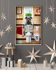 PITBULL TERRIER SITTING ON A TOILET 11x17 Poster lifestyle-holiday-poster-1