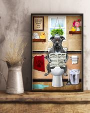 PITBULL TERRIER SITTING ON A TOILET 11x17 Poster lifestyle-poster-3