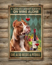 WOMAN ALSO NEEDS A PITBULL TERRIER DOG 11x17 Poster aos-poster-portrait-11x17-lifestyle-14