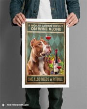 WOMAN ALSO NEEDS A PITBULL TERRIER DOG 11x17 Poster aos-poster-portrait-11x17-lifestyle-28