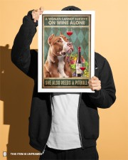 WOMAN ALSO NEEDS A PITBULL TERRIER DOG 11x17 Poster aos-poster-portrait-11x17-lifestyle-31