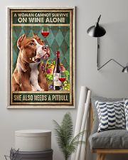 WOMAN ALSO NEEDS A PITBULL TERRIER DOG 11x17 Poster lifestyle-poster-1