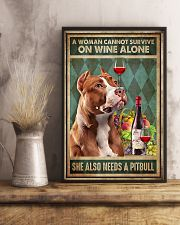 WOMAN ALSO NEEDS A PITBULL TERRIER DOG 11x17 Poster lifestyle-poster-3