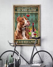 WOMAN ALSO NEEDS A PITBULL TERRIER DOG 11x17 Poster lifestyle-poster-7