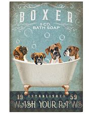 BOXER PUPPY SITTING ON A BATH SOAP 11x17 Poster front