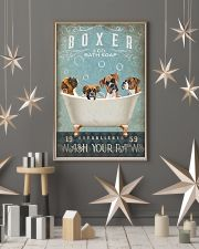 BOXER PUPPY SITTING ON A BATH SOAP 11x17 Poster lifestyle-holiday-poster-1