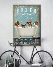 BOXER PUPPY SITTING ON A BATH SOAP 11x17 Poster lifestyle-poster-7