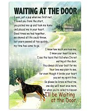 GREATER SWISS MOUNTAIN DOG WAITTING AT THE DOOR 11x17 Poster front