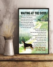 GREATER SWISS MOUNTAIN DOG WAITTING AT THE DOOR 11x17 Poster lifestyle-poster-3