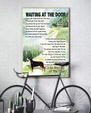 GREATER SWISS MOUNTAIN DOG WAITTING AT THE DOOR 11x17 Poster lifestyle-poster-7