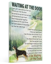 GREATER SWISS MOUNTAIN DOG WAITTING AT THE DOOR Gallery Wrapped Canvas Prints tile