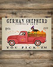 GERMAN SHEPHERD DOG RED TRUCK PUMPKIN FARM 17x11 Poster poster-landscape-17x11-lifestyle-14
