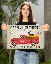 GERMAN SHEPHERD DOG RED TRUCK PUMPKIN FARM 17x11 Poster poster-landscape-17x11-lifestyle-19