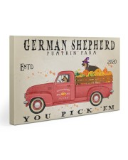 GERMAN SHEPHERD DOG RED TRUCK PUMPKIN FARM Gallery Wrapped Canvas Prints tile