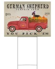 GERMAN SHEPHERD DOG RED TRUCK PUMPKIN FARM Yard Signs tile
