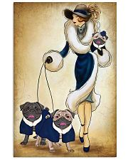 PUG WOMAN 11x17 Poster front