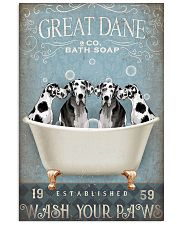 FUNNY GREAT DANE RELAX ON BATH SOAP 11x17 Poster front