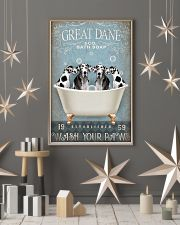 FUNNY GREAT DANE RELAX ON BATH SOAP 11x17 Poster lifestyle-holiday-poster-1
