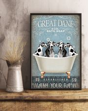 FUNNY GREAT DANE RELAX ON BATH SOAP 11x17 Poster lifestyle-poster-3