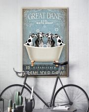 FUNNY GREAT DANE RELAX ON BATH SOAP 11x17 Poster lifestyle-poster-7