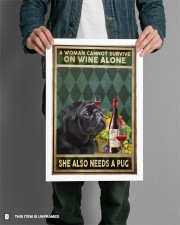 WOMAN ALSO NEEDS A PUG DOG 11x17 Poster aos-poster-portrait-11x17-lifestyle-28