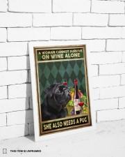 WOMAN ALSO NEEDS A PUG DOG 11x17 Poster aos-poster-portrait-11x17-lifestyle-35