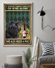 WOMAN ALSO NEEDS A PUG DOG 11x17 Poster lifestyle-poster-1
