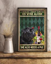 WOMAN ALSO NEEDS A PUG DOG 11x17 Poster lifestyle-poster-3