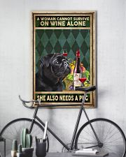 WOMAN ALSO NEEDS A PUG DOG 11x17 Poster lifestyle-poster-7