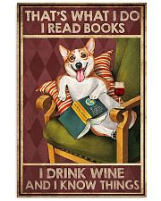 CORGI DOG READ BOOK DRINK AND KNOW THINGS 11x17 Poster front