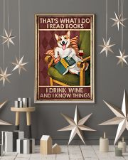 CORGI DOG READ BOOK DRINK AND KNOW THINGS 11x17 Poster lifestyle-holiday-poster-1