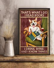CORGI DOG READ BOOK DRINK AND KNOW THINGS 11x17 Poster lifestyle-poster-3