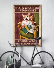 CORGI DOG READ BOOK DRINK AND KNOW THINGS 11x17 Poster lifestyle-poster-7