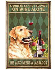 WOMAN ALSO NEEDS A LABRADOR DOG 11x17 Poster front