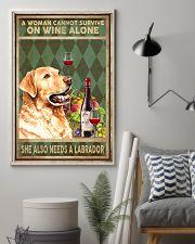 WOMAN ALSO NEEDS A LABRADOR DOG 11x17 Poster lifestyle-poster-1