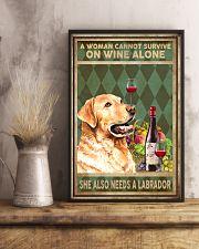 WOMAN ALSO NEEDS A LABRADOR DOG 11x17 Poster lifestyle-poster-3