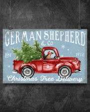 GERMAN SHEPHERD DOG RED TRUCK CHRISTMAS 17x11 Poster aos-poster-landscape-17x11-lifestyle-12
