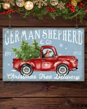 GERMAN SHEPHERD DOG RED TRUCK CHRISTMAS 17x11 Poster aos-poster-landscape-17x11-lifestyle-27