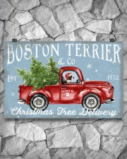 BOSTIE DOG RED TRUCK CHRISTMAS 17x11 Poster aos-poster-landscape-17x11-lifestyle-13
