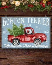 BOSTIE DOG RED TRUCK CHRISTMAS 17x11 Poster aos-poster-landscape-17x11-lifestyle-27