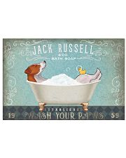 JACK RUSSELL PUPPY TAKE A BATH SOAP 17x11 Poster front