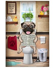 PUG PUPPY SITTING ON A TOILET 11x17 Poster front